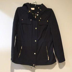 Michael Kors. Black rain jacket/trench coat style
